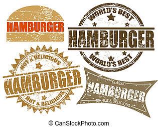 hamburger, postzegels