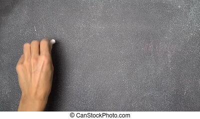 "hand, fi"", black , chalkboard, ""wi, schrijvende"
