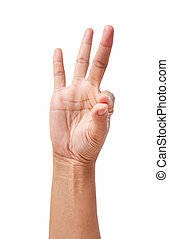 hand, vrijstaand, object., vasthouden
