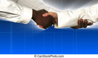hand, zakenlieden, rillend
