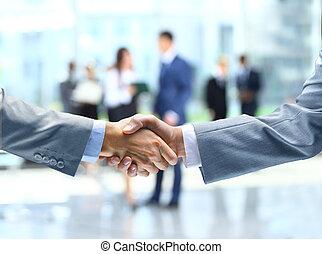 handdruk, zakenlui