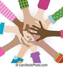 handen, anders, togetherness
