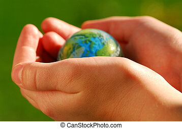 handen, globe