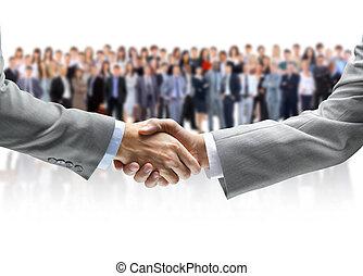 handen te schudden, handel team