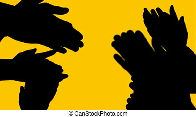 hands handgeklap, animatie