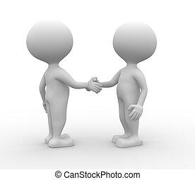 handshake., -, vennootschap