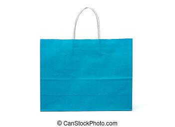handvatten, winkeltas, witte , papier, blauwe , kadootjes