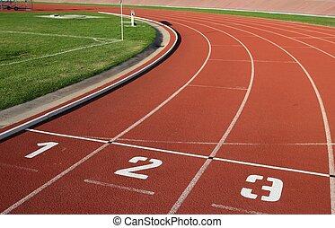 hardloop wedstrijd, laan, getallen, athlectics