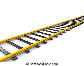 hardloop wedstrijd, spoorweg