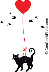 hart, balloon, kat