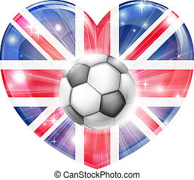 hart, dommekracht, unie, voetbal, vlag