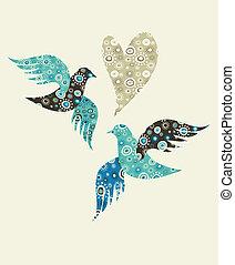 hart, duiven, twee