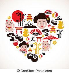 hart gedaante, japan, iconen