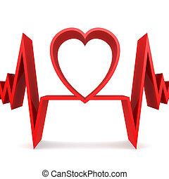 hart gedaante, rood, pols