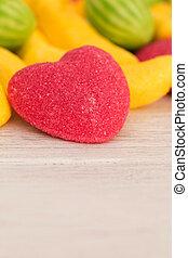 hart, gelei, rood