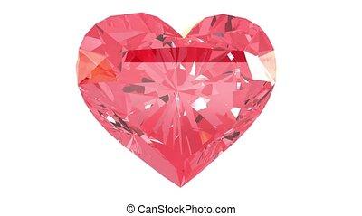 hart, gemstone, rood