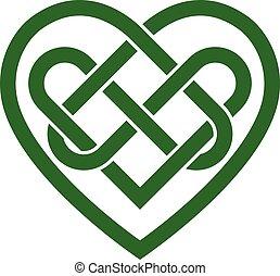 hart, keltisch, vector, ierse , knoop