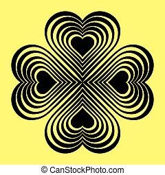hart, knoop, black , -, keltisch, stylized