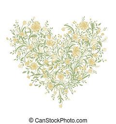 hart, liefde, bouquetten, jouw, vorm, floral ontwerpen