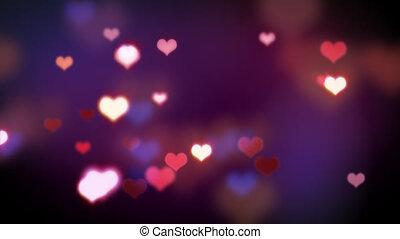hart, liefde, gedaantes, het glanzen, loopable