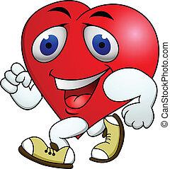 hart, oefening, karton