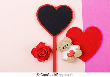 hart, papier, rood, heemst