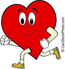 hart, rennende