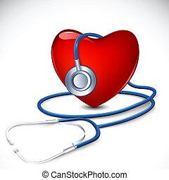 hart, stethoscope, ongeveer