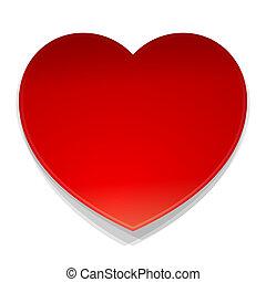 hart, symbool, vector