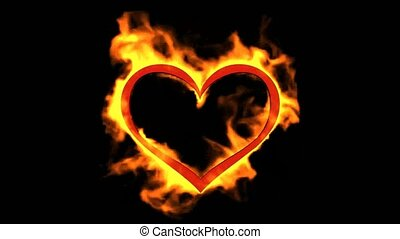 hart, valentine's dag, burning
