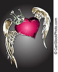 hart, van een stam, illustratie