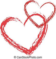 hart, vector, liefde