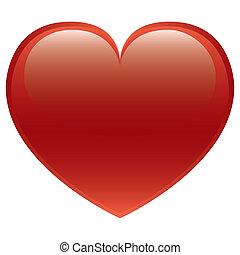 hart, vector, rood