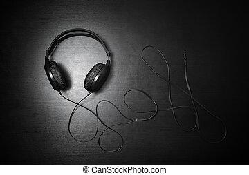 headphones, black , dj