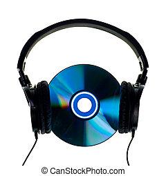 headphones, cd