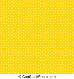 helder, polka, seamless, gele, punten
