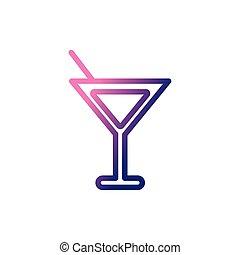 helling, wijn glas, stijl, pictogram