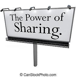 helpen, mogendheid splitsend, boodschap, anderen, buitenreclame, geven, doneren