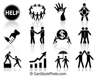 helpen, zakenbeelden