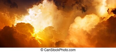 hemel, ondergaande zon