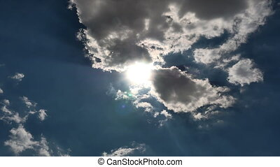 hemel, wrakkigheid, wolken, 4k, tijd