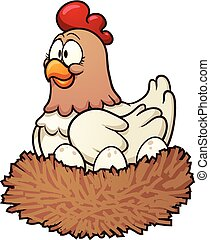 hen, spotprent