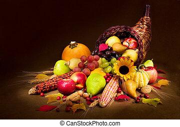 herfst, cornucopia