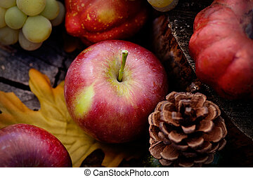 herfst, fruit