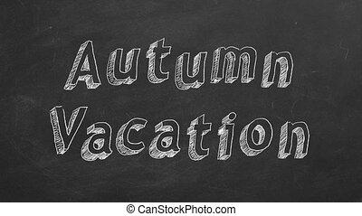 herfst, vakantie