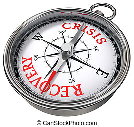 herstel, concept, vs, crisis, kompas