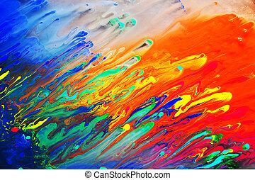 het abstracte schilderen, acryl, kleurrijke