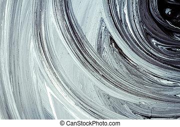 het abstracte schilderen, acryl