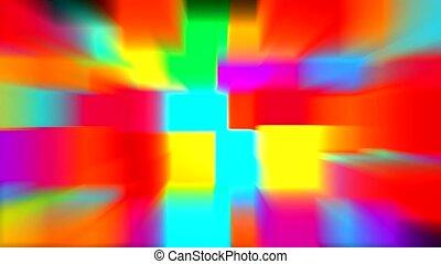 het blok van de kleur, lichte stralen, model