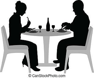 het dineren, paar